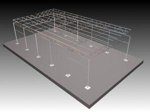 Proceso Diseño estructura Cancha Baloncesto